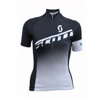 Camisa Ciclismo Feminina Scott Endurance 40 2017 Preto/Branco -