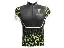 Camisa Ciclismo Mountain Bike Masculina Monster Zíper Total Preta - Pro Tour