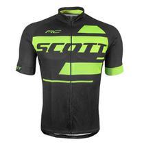 Camisa Ciclismo Scott RC Team 10 Preto/Amarelo -