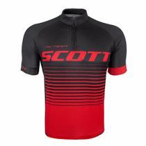 Camisa Ciclismo Scott RC Team 20 Preto/ Vermelho -