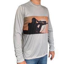 Camisa com Proteção UV Atirador Manga Longa - Raju P -