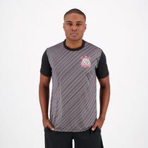 Camisa Corinthians Stroke SCCP Preta e Chumbo - Spr