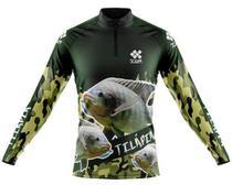 Camisa De Pesca Ziiip Protecao Solar Uv 50 Cp005vd Tilapia -