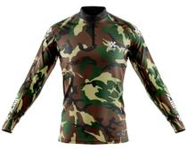 Camisa De Pesca Ziiip Protecao Solar Uv 50 CP008VD camuflada -