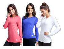 Camisa Feminina Baby Look Proteção Sol UV Segunda Pele Antibactericida Original Kanxa -