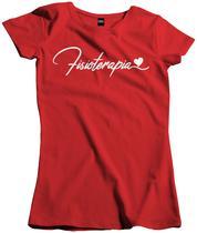 Camisa Feminina Curso Fisioterapia coração - Dunose Estamparia