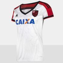 Camisa Feminina Flamengo Branca adidas 2015 -