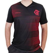 Camisa Flamengo Dry Parrot Preto E Vermelha Oficial - Braziline