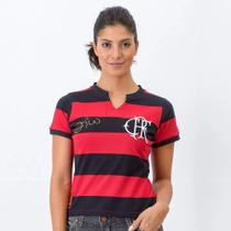 Camisa Flamengo Flatri Zico Dourado Feminina - Braziline -