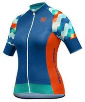 Camisa freeforce feminina ripple azul (modelagem fit) - Free force