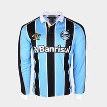 Camisa Grêmio I 19/20 s/n Torcedor Umbro Manga Longa Masculina -