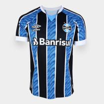 Camisa Grêmio I 20/21 Masculina - Azul+Preto - DASS