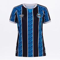 Camisa Grêmio I 20/21 s/n Torcedor Umbro Feminina -