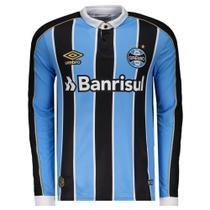 Camisa Grêmio I 2019 Manga Longa - M - Dass