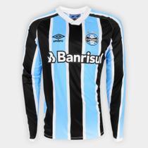Camisa Grêmio I 21/22 s/nº Torcedor Umbro Manga Longa Masculina -
