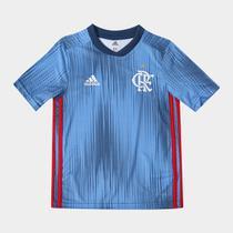 Camisa Infantil Flamengo Adidas III 2018 Azul -