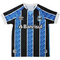 Camisa Infantil Grêmio Umbro Oficial 1 2020 S/N Azul/Preto -