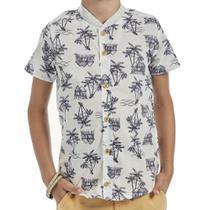 Camisa Infantil Menino em Tecido Plano Palmeiras  Bugbee -