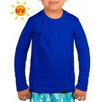 Camisa Infantil Proteção Solar Unissex Uv50+ Manga Longa Praia Piscina Esportes - Roupas Térmicas