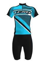 Camisa mais Bermuda em Gel Ciclista Foxxer Azul -