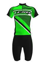 Camisa mais Bermuda em Gel Ciclista Foxxer Verde -