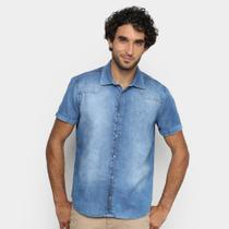 Camisa Malwee Slim Light Denim Masculina -