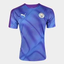 Camisa Manchester City Pré-Jogo 19/20 s/nº Puma Masculina -
