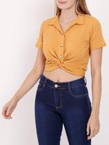 Camisa Manga Curta Autentique Feminina Amarelo -