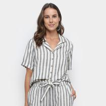 Camisa Manga Curta Malwee Listrada Feminina -