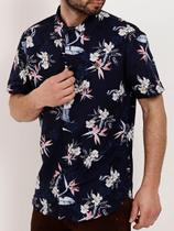 Camisa Manga Curta Masculina Azul Marinho - Fico
