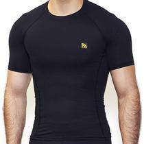 Camisa Manga Curta Preta Compress Masculina Prottector -