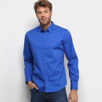 Camisa Manga Longa Colcci Slim Elastano Masculina -