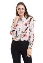 Camisa Manga Longa Estampa Mix - Kinara