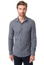 Camisa manga longa flanelada fio tinto casual slim fit - HIGHSTIL