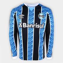 Camisa Manga Longa Grêmio I 20/21 s/n Torcedor Umbro Masculina -