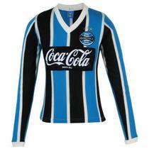 Camisa Manga Longa Grêmio Retrô 1989 Coca-Cola Feminina - Oldoni
