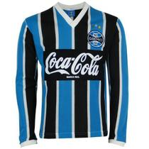 Camisa Manga Longa Grêmio Retrô 1989 Coca-Cola Masculina - Oldoni