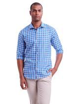 Camisa manga longa linho fio tinto resort slim fit - HIGHSTIL