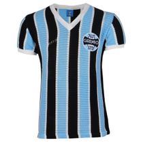 Camisa Masculina Grêmio Retrô 1973 Bordada Gola V Torcedor -