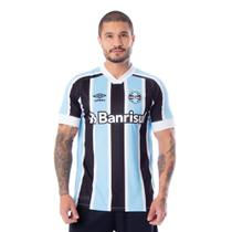 Camisa Masculina Umbro Grêmio Oficial 1 2021 Número 10 Azul/Preto/Branco -