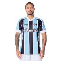 Camisa Masculina Umbro Grêmio Oficial 1 2021 S/N Azul Celeste/Preto -