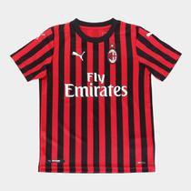 Camisa Milan Infantil Home 19/20 s/n Torcedor Puma -