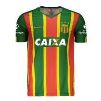 Camisa Oficial Sampaio Corrêa Esporte Clube Masculina Verde Mangas Curtas Gola V Poliéster Número 22 - Bomache