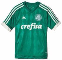 e1e0bdac36 Camisa Palmeiras Infantil Original adidas 2015 / 2016 Verde -