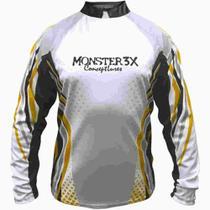 Camisa Pesca G New Fish 01 Monster 3x -