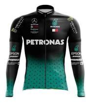 Camisa Petronas Manga Longa Esportes Ciclismo Dry Fit Mtb Bicicleta Ziper - Decole