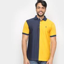 Camisa Polo Aleatory Bicolor Fio Tinto Masculina -