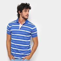 Camisa Polo Aleatory Fio Estampa Listrada Masculina -