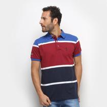 Camisa Polo Aleatory Fio Tinto Bicolor Masculina -