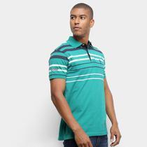 Camisa Polo Aleatory Fio Tinto Listras Masculina -